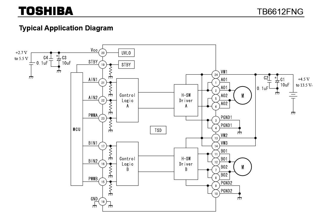 kontroller motora TB6612FNG