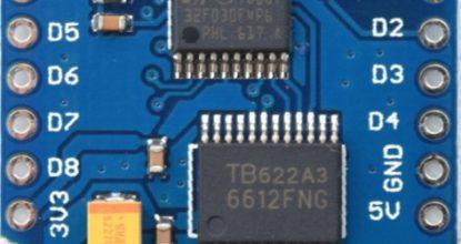 Драйвер двигателей. WeMos D1 mini I2C Dual Motor Driver TB6612FNG (1A) V1.0.0