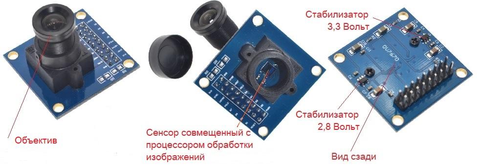 Таким образом выглядит самая популярная видеокамера Китая для Arduino с сенсором-процессором DSP OV7670 от компании OmniVision
