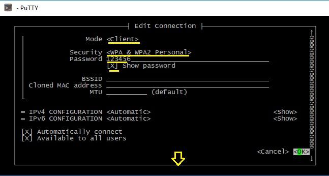 Подключение к Wi-Fi Debian/Ubuntu/Raspbian через Network